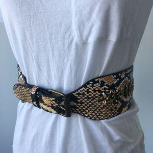 BCBG Max Azria Python Belt Vegan Faux Leather